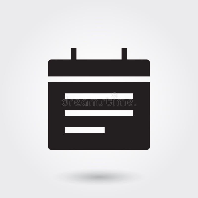 Vetor, ícone do Glyph da programação do calendário do evento perfeito para o Web site, apps móveis, apresentação ilustração royalty free