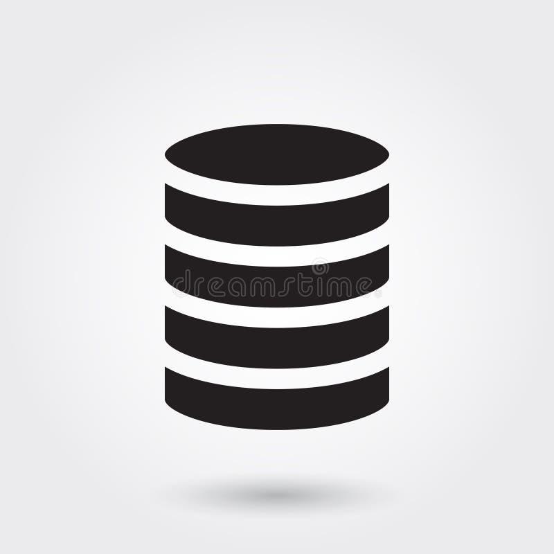 Vetor, ícone do Glyph do negócio do banco de dados perfeito para o Web site, apps móveis, apresentação ilustração stock