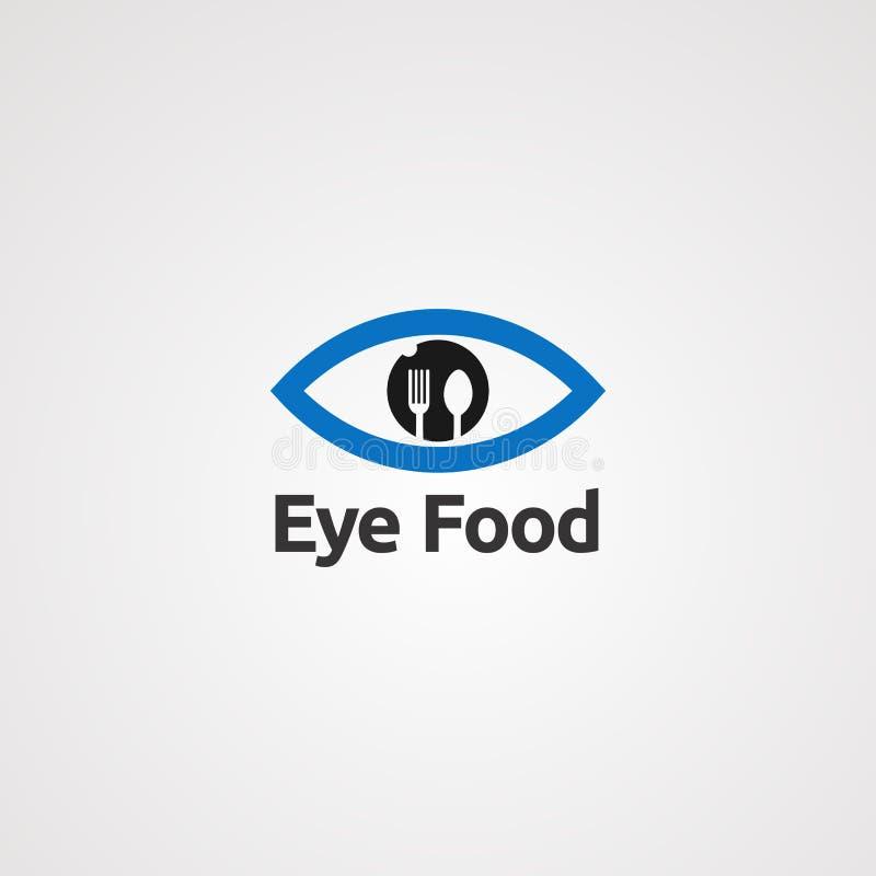 Vetor, ícone, elemento, e molde do logotipo do alimento do olho ilustração do vetor