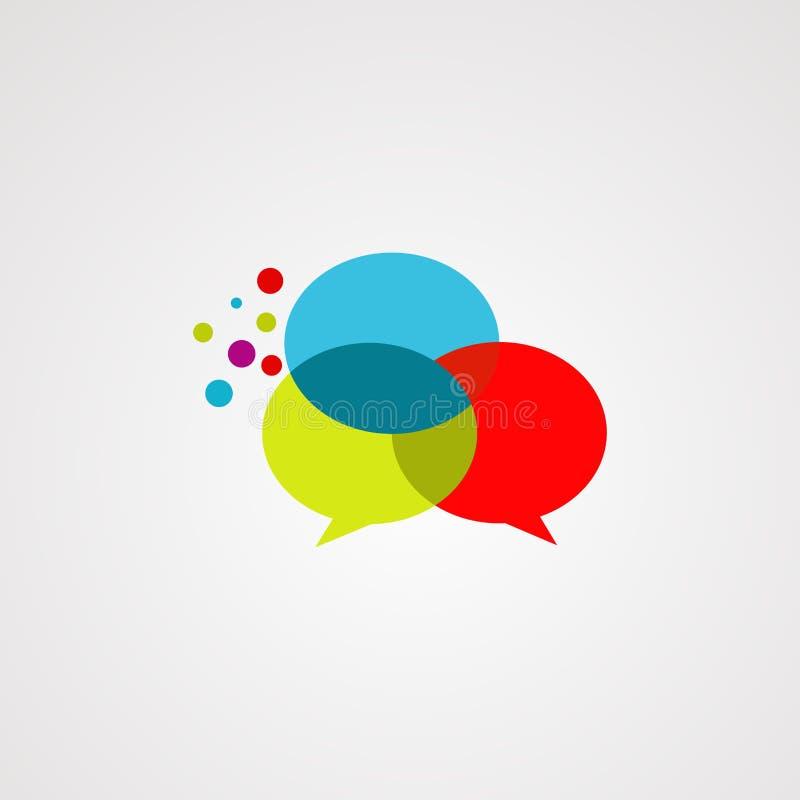Vetor, ícone, elemento, e molde do logotipo do bate-papo da bolha ilustração stock