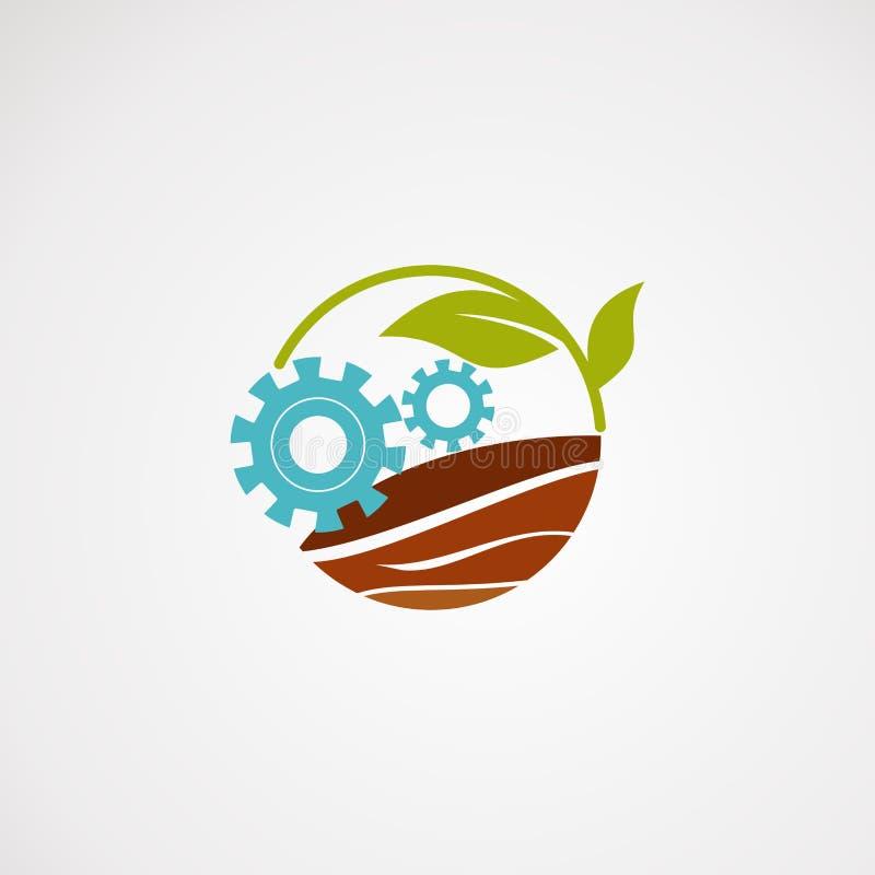 Vetor, ícone, elemento, e molde do logotipo da caixa da exploração agrícola para a empresa ilustração do vetor