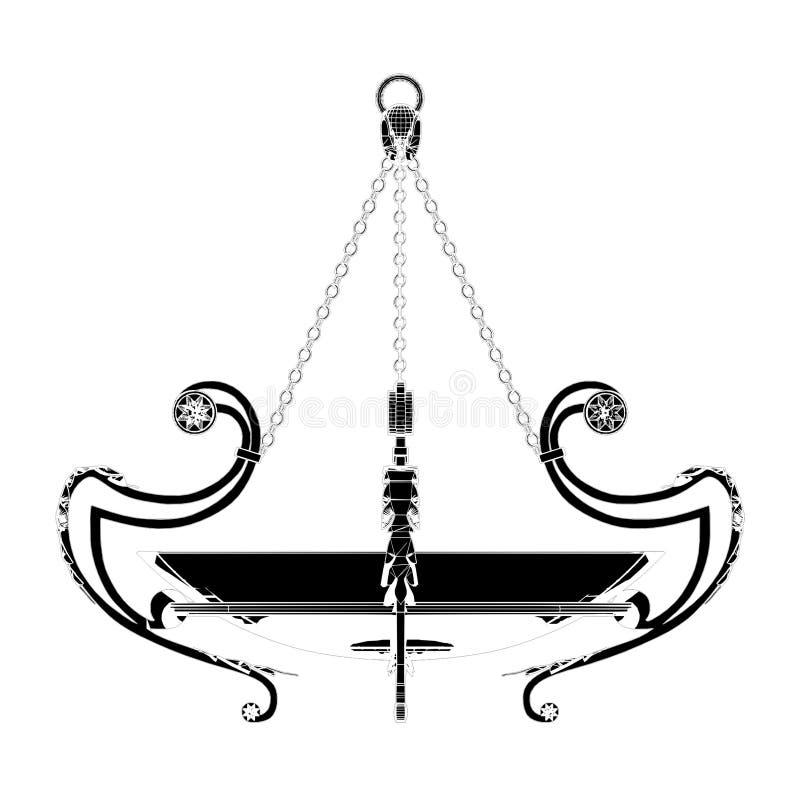 Vetor 04 do candelabro do brilho ilustração do vetor