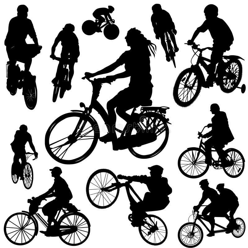 Vetor 2 da bicicleta ilustração stock