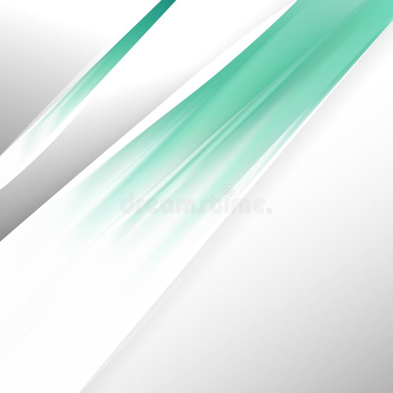Vetor Abstract Green and White Brochure Design Template ilustração stock