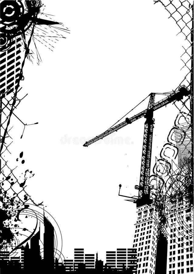 Vetor abstrato da cidade do grunge ilustração royalty free