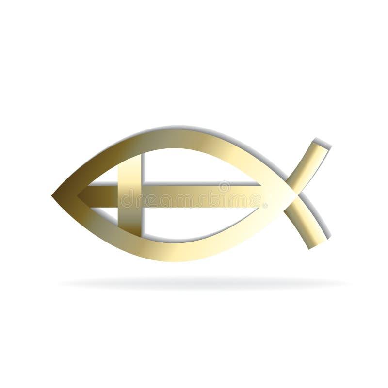 Vetor abstrato da imagem do símbolo do ouro do ícone dos peixes do ouro ilustração stock