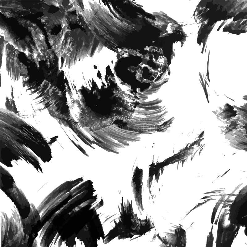 Vetor abstrato da textura do grunge da tinta ilustração stock