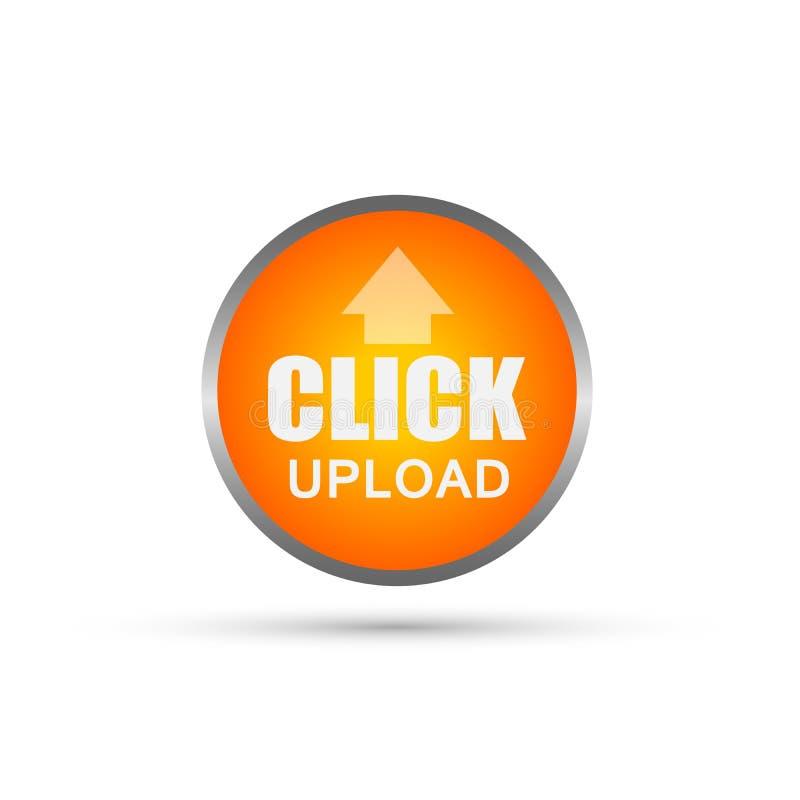 Vetor abstrato do ícone do botão da transferência de arquivo pela rede do clique no elemento no fundo branco ilustração stock