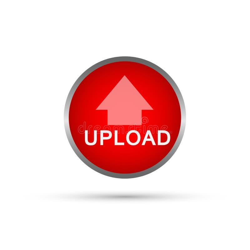 Vetor abstrato do ícone do botão da transferência de arquivo pela rede no elemento no fundo branco ilustração do vetor