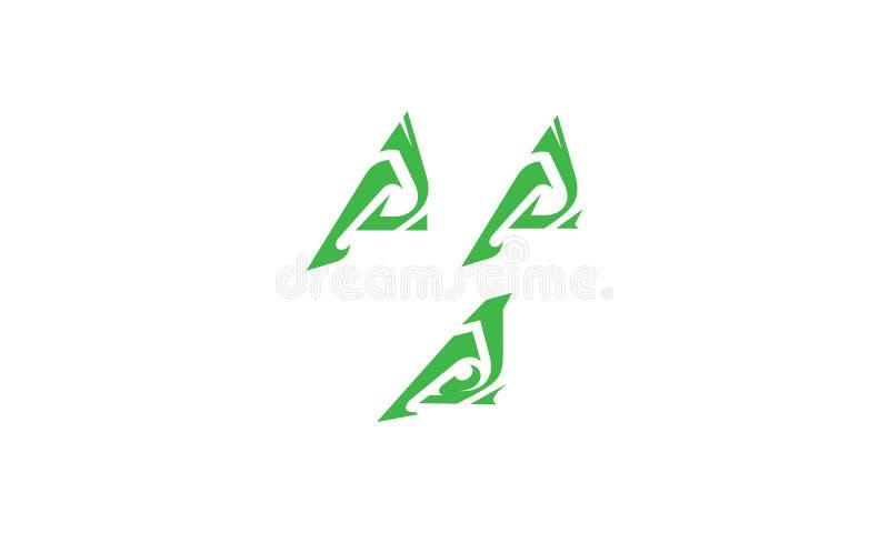 Vetor abstrato do ícone do logotipo do monstro do olho ilustração stock
