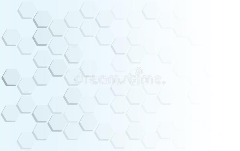 Vetor abstrato do fundo da colmeia da abelha do hexágono ilustração royalty free