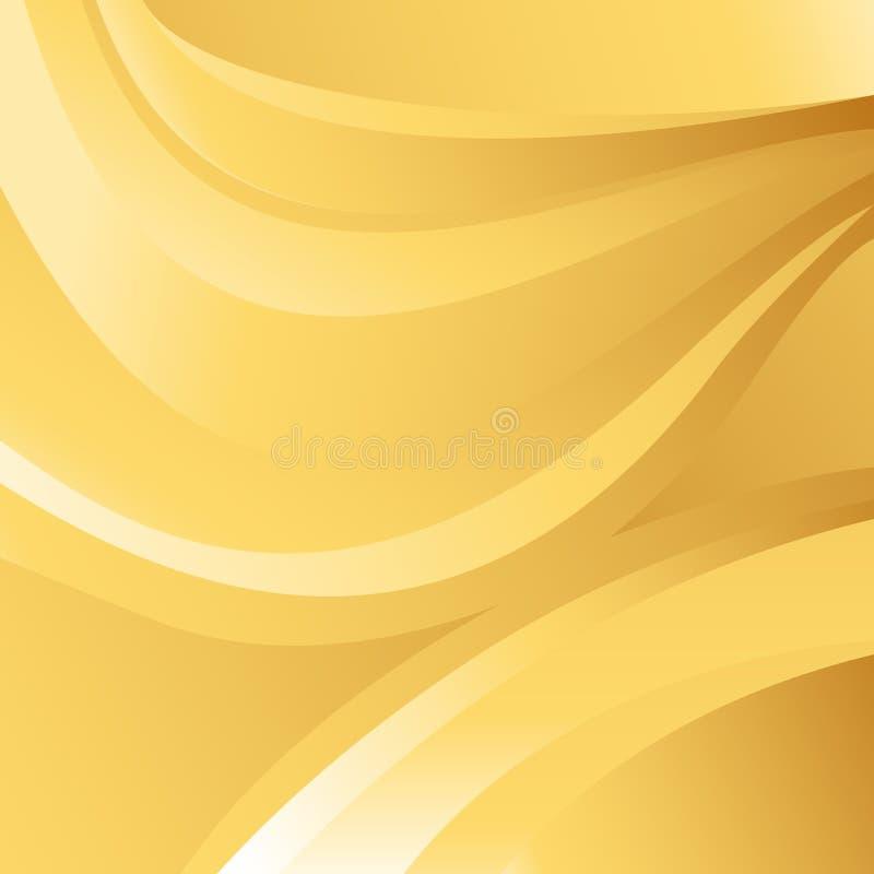 Vetor abstrato do fundo da onda do ouro ilustração stock