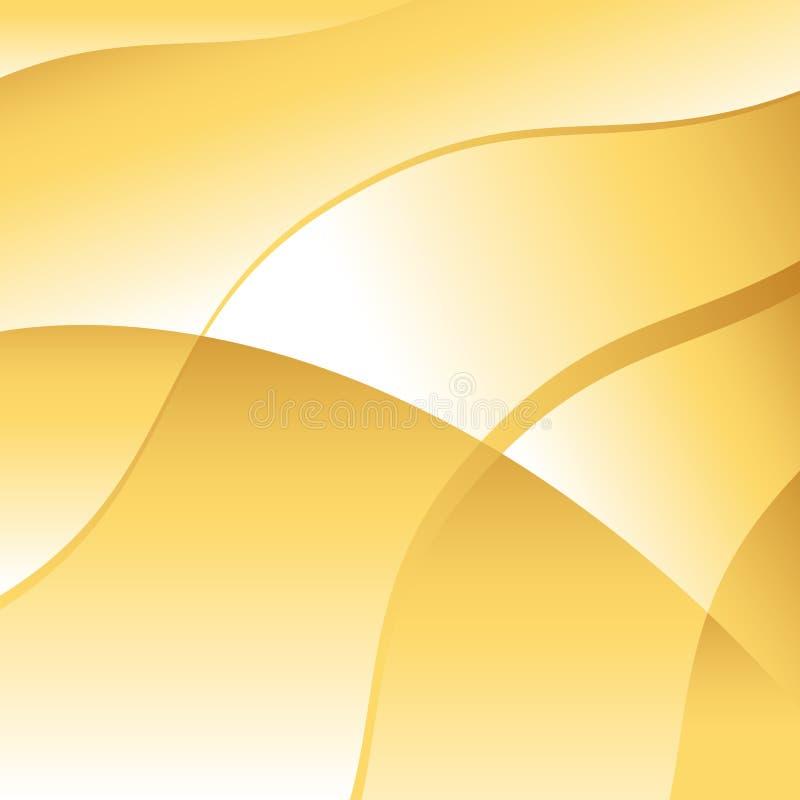 Vetor abstrato do fundo da onda do ouro ilustração royalty free