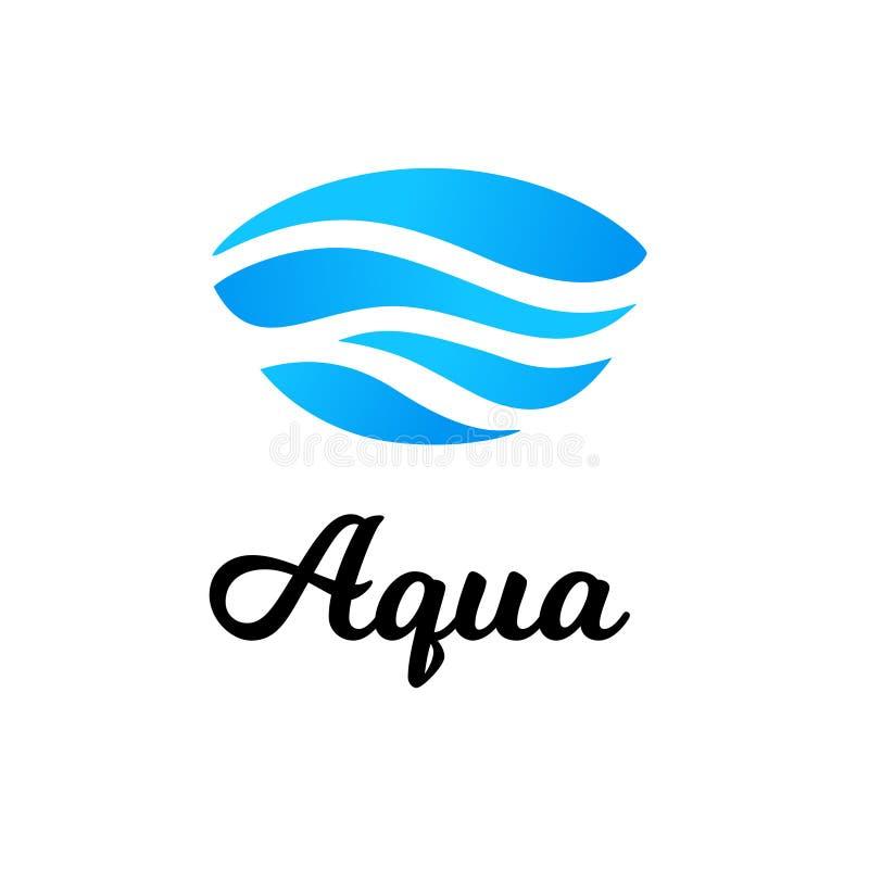 Vetor abstrato do logotipo da água ilustração stock