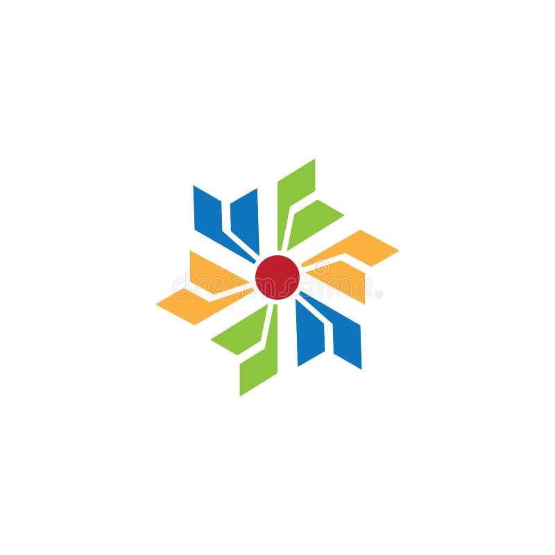 Vetor abstrato do logotipo do negócio da rotação ilustração do vetor
