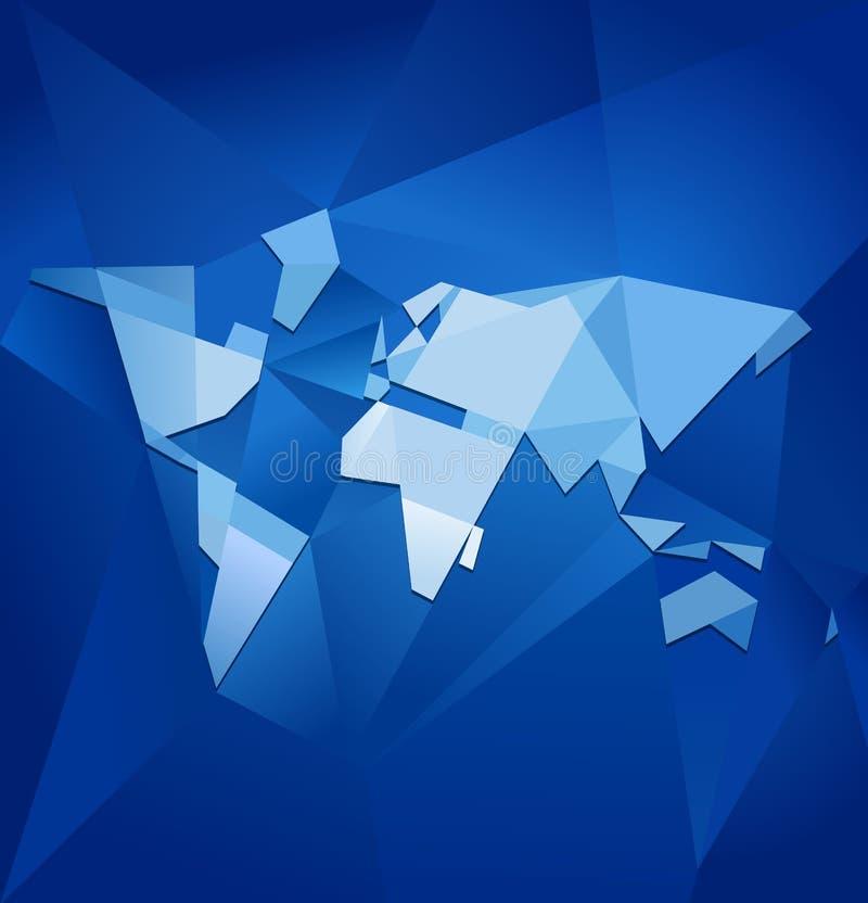 Vetor abstrato do mapa de mundo ilustração stock