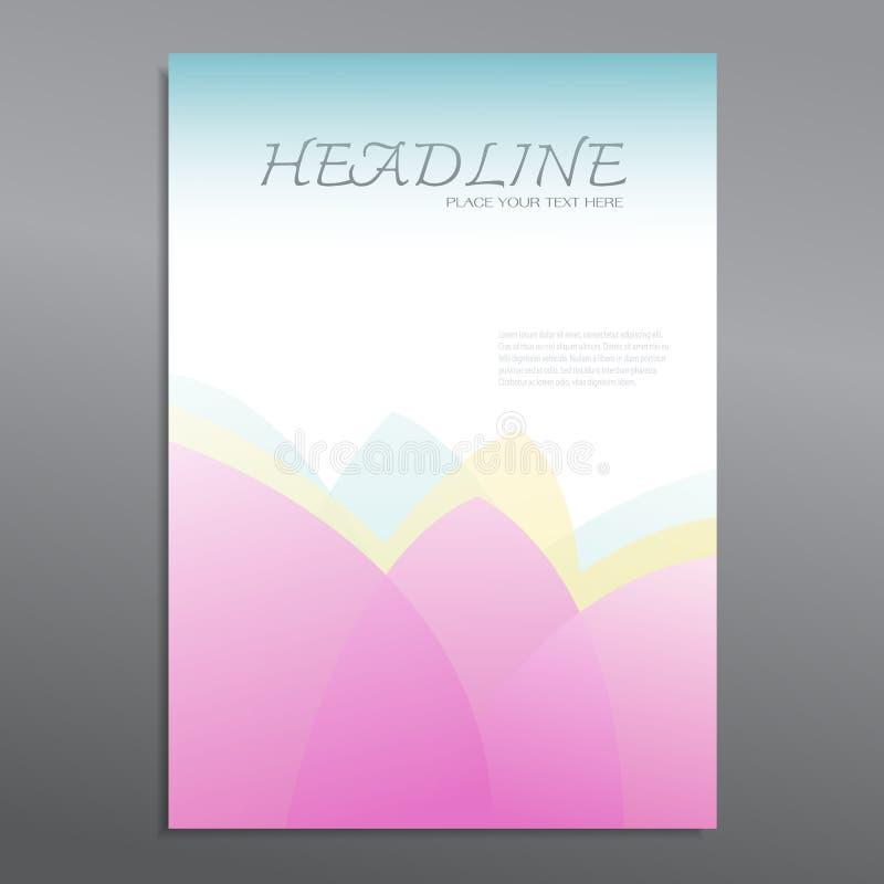 Vetor abstrato do projeto de Lotus Brochure Flyer ilustração do vetor