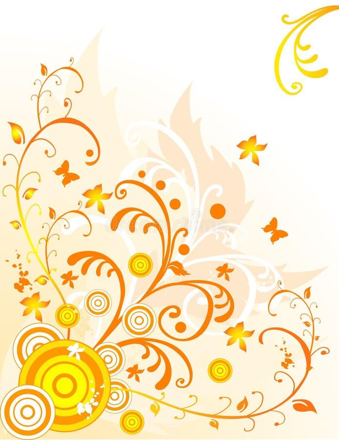 Vetor abstrato floral ilustração royalty free