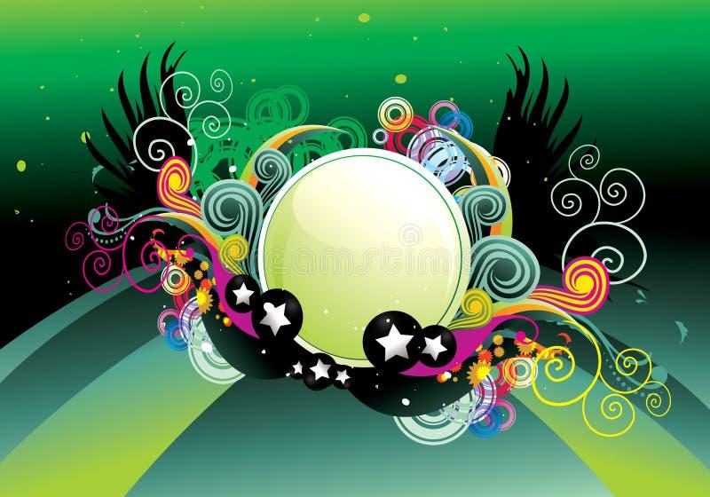 Vetor abstrato lustroso da cor ilustração stock
