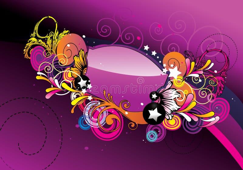 Vetor abstrato lustroso da cor ilustração do vetor