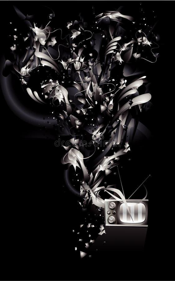 Vetor abstrato preto e branco ilustração stock