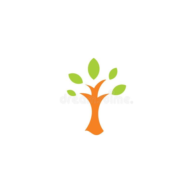 Vetor abstrato simples do logotipo da árvore ilustração stock