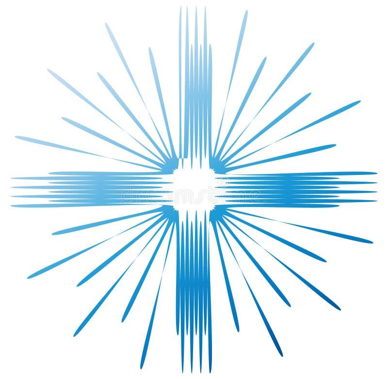 Vetor abstrato transversal azul do ícone do logotipo ilustração do vetor