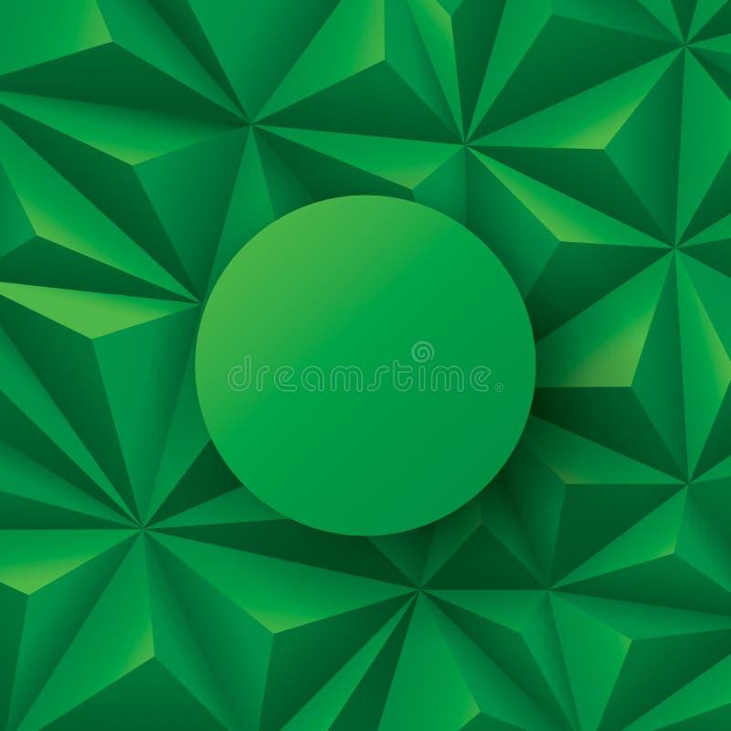 Vetor abstrato verde do fundo ilustração do vetor