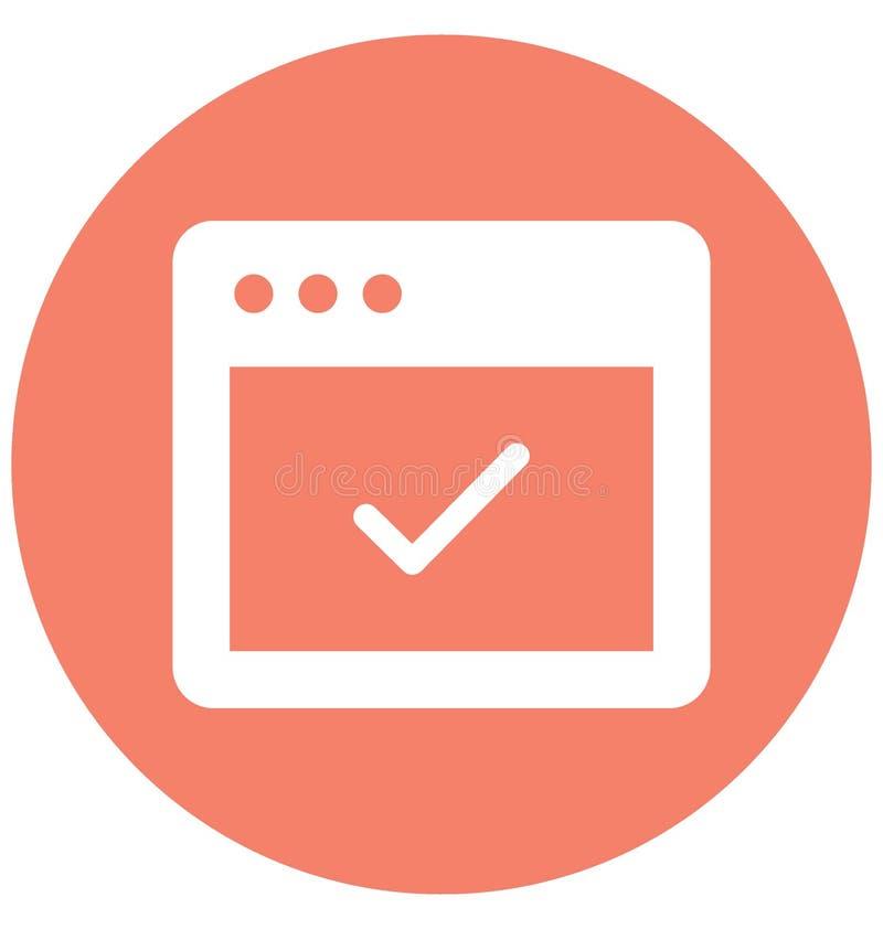Vetor aceitado relativo às janelas do web browser e vetor aceitado inteiramente editável relativo às janelas e inteiramente ao ed ilustração do vetor