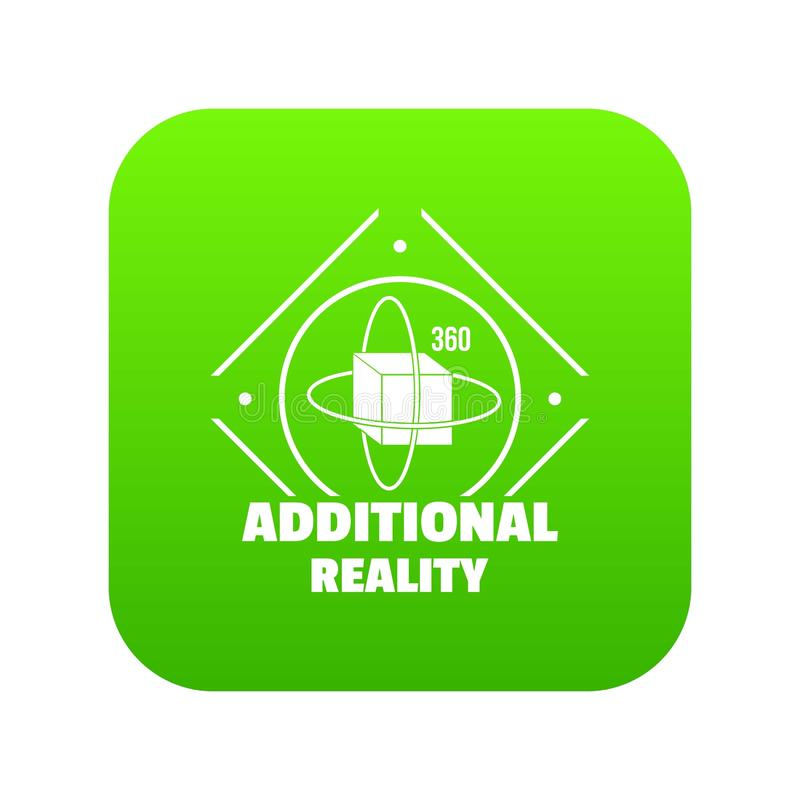 Vetor adicional do verde do ícone da realidade ilustração do vetor