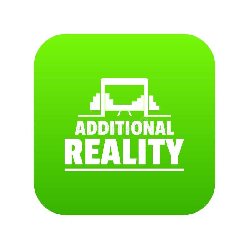 Vetor adicional do verde do ícone da realidade do jogo ilustração do vetor
