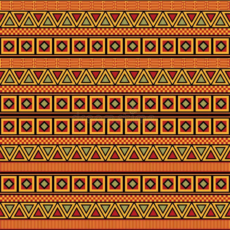 Vetor africano do teste padrão ilustração stock