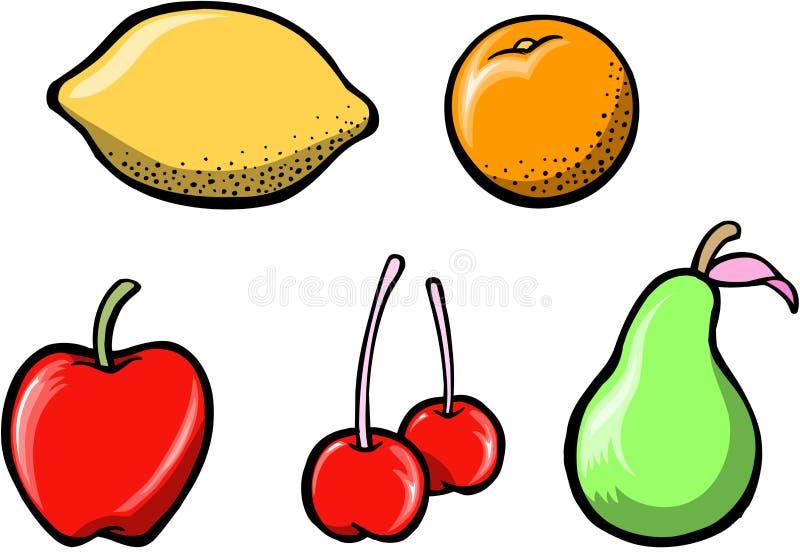 Vetor ajustado da fruta saboroso ilustração do vetor