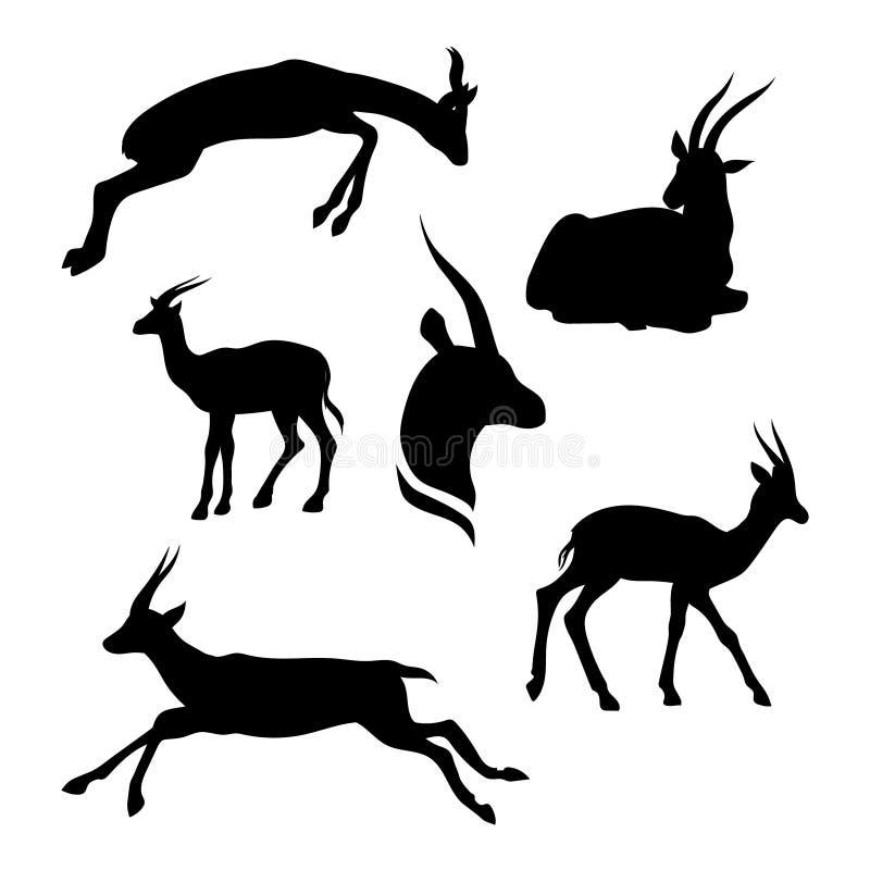 Vetor ajustado da gazela ilustração do vetor