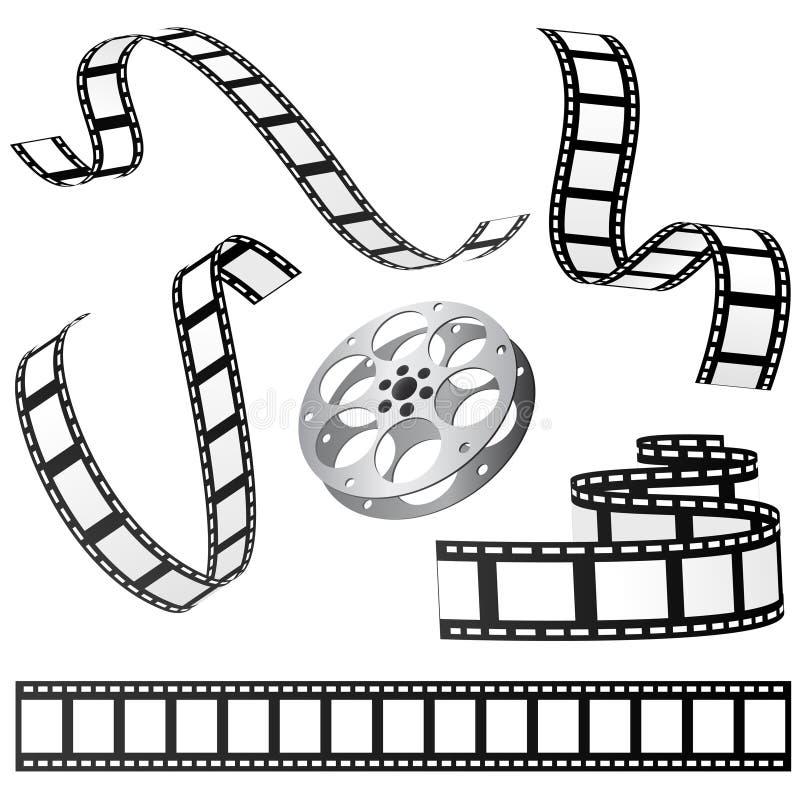 Vetor ajustado da película ilustração stock