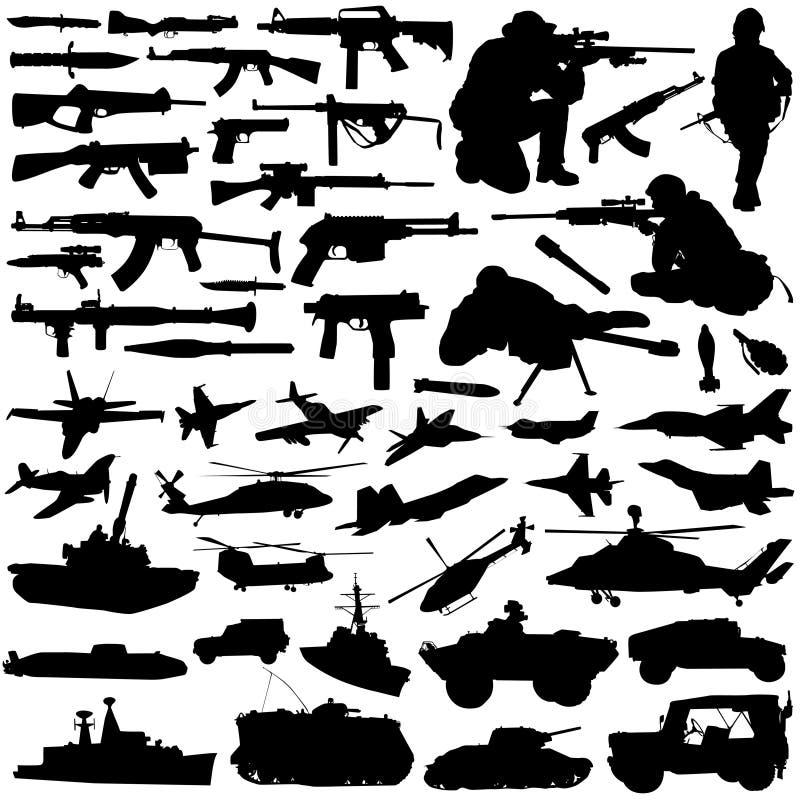 Vetor ajustado das forças armadas ilustração stock