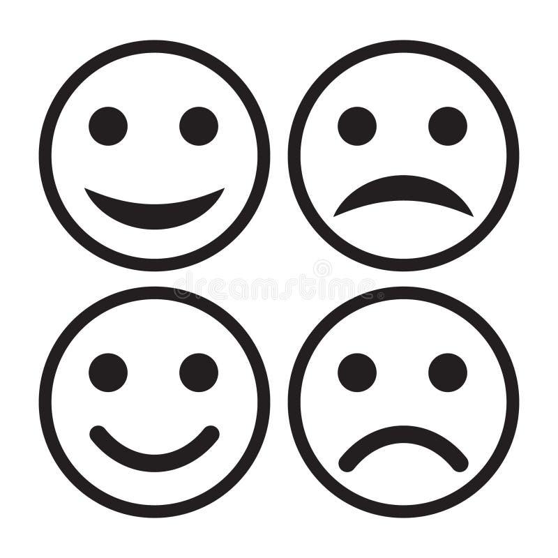 Vetor ajustado do ícone do sorriso ilustração royalty free