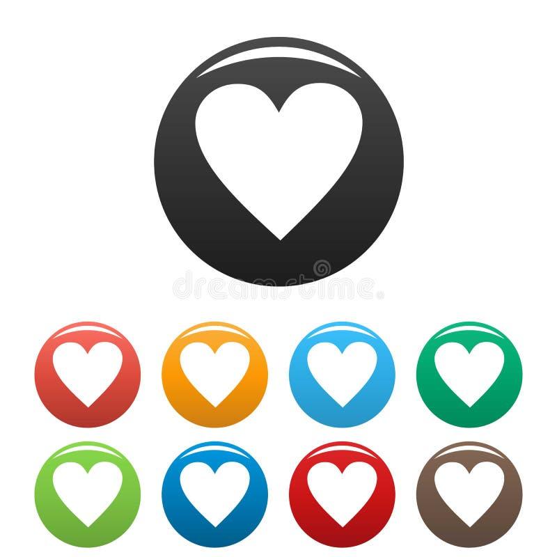Vetor ajustado do coração ícones novos simples ilustração do vetor