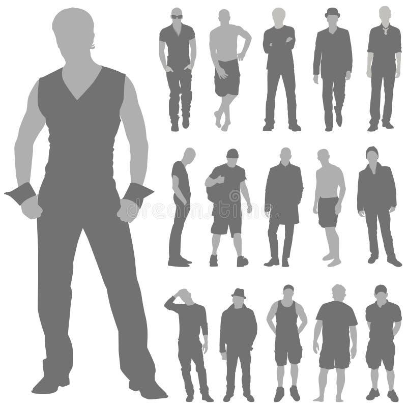 Vetor ajustado do homem da forma ilustração do vetor