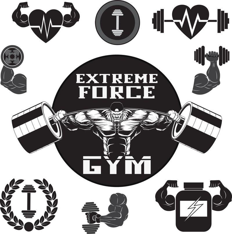 Vetor ajustado: gym ilustração royalty free