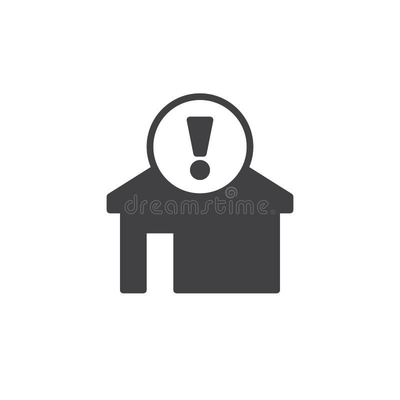 Vetor alerta home do ícone ilustração royalty free