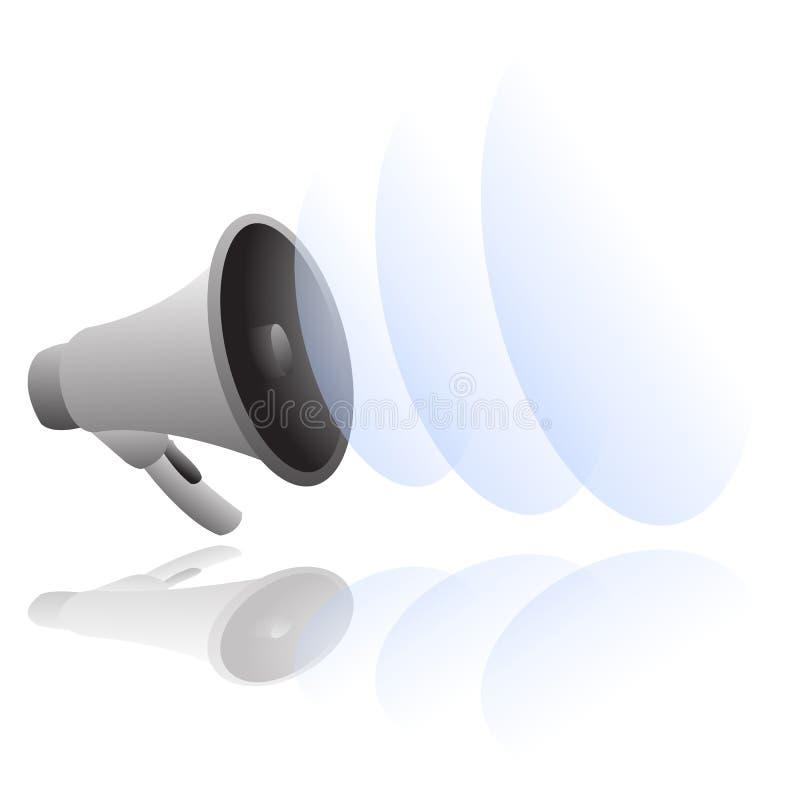 Vetor alto do megafone ilustração do vetor