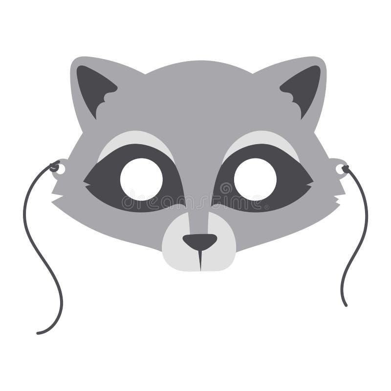 Vetor animal da máscara do partido dos desenhos animados ilustração royalty free
