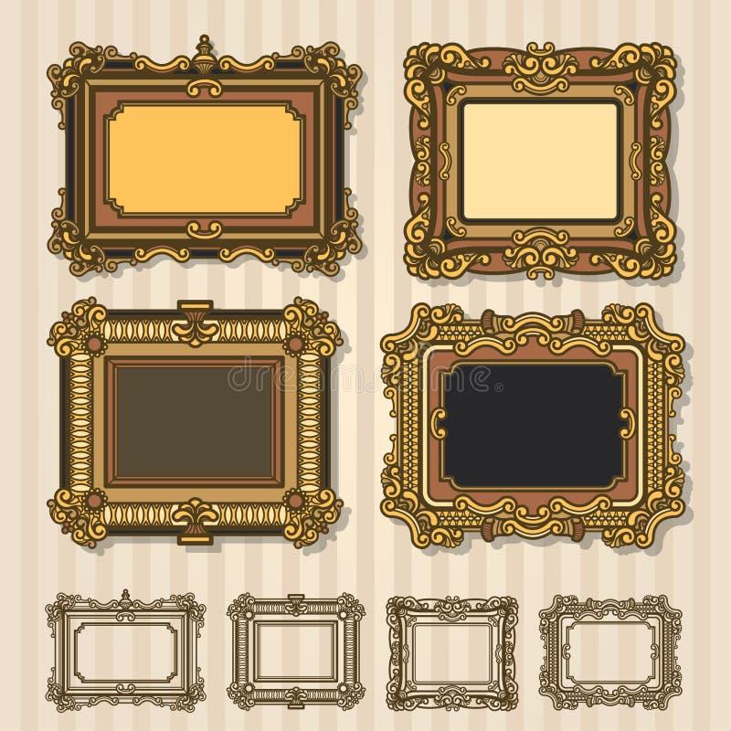 Vetor antigo do quadro fotos de stock royalty free