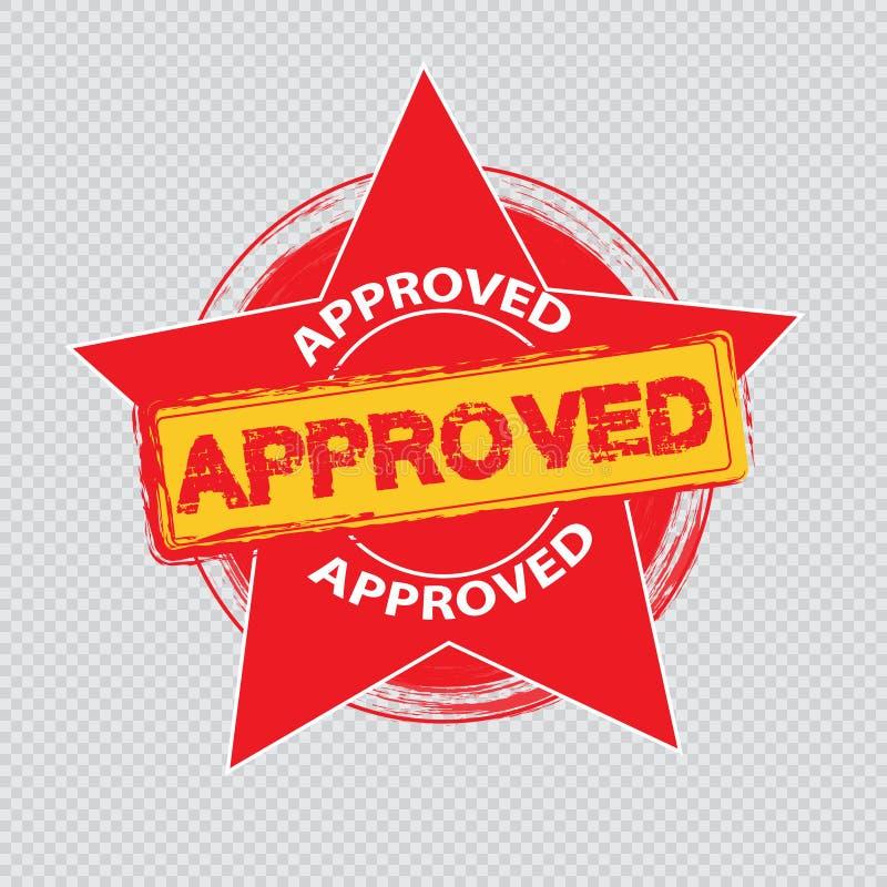 Vetor aprovado do selo ilustração stock