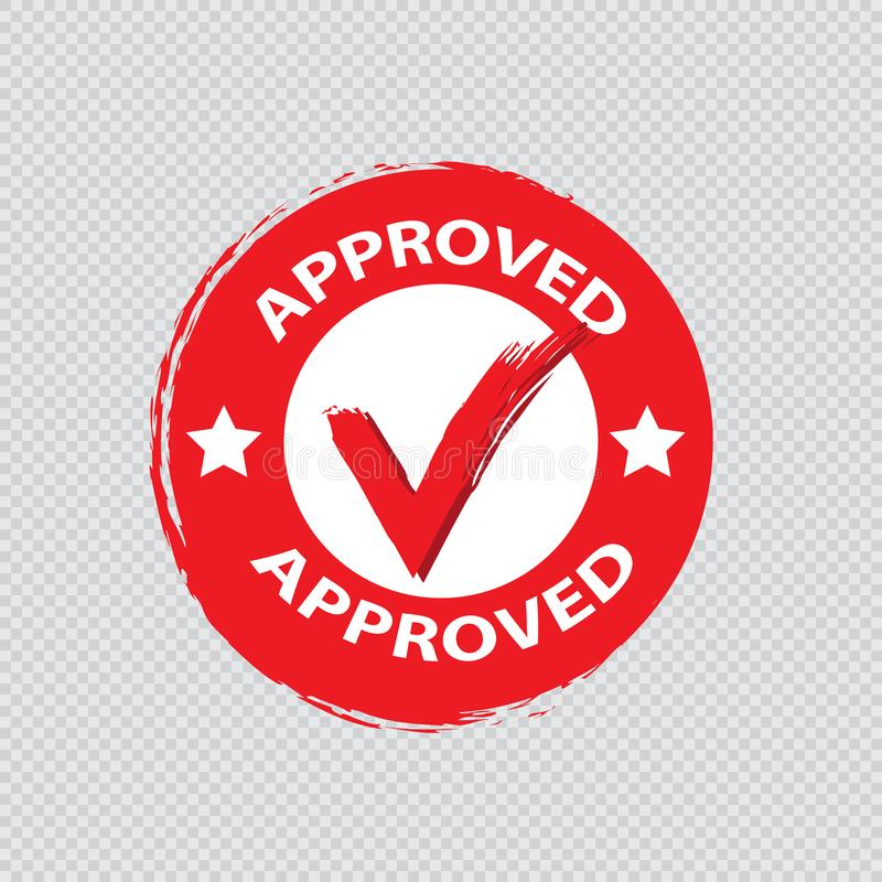 Vetor aprovado do selo ilustração do vetor