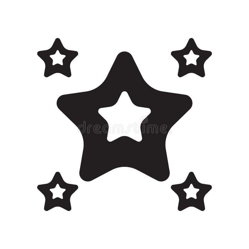 Vetor arredondado do ícone da estrela do ponto isolado no fundo branco, Rou ilustração stock