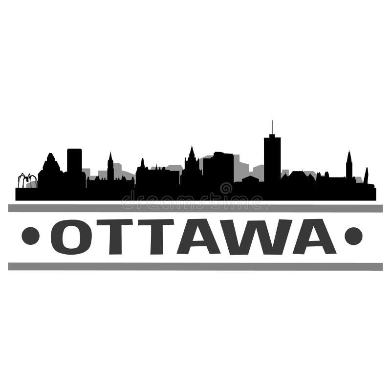 Vetor Art Design do ícone da cidade da skyline de Ottawa ilustração do vetor