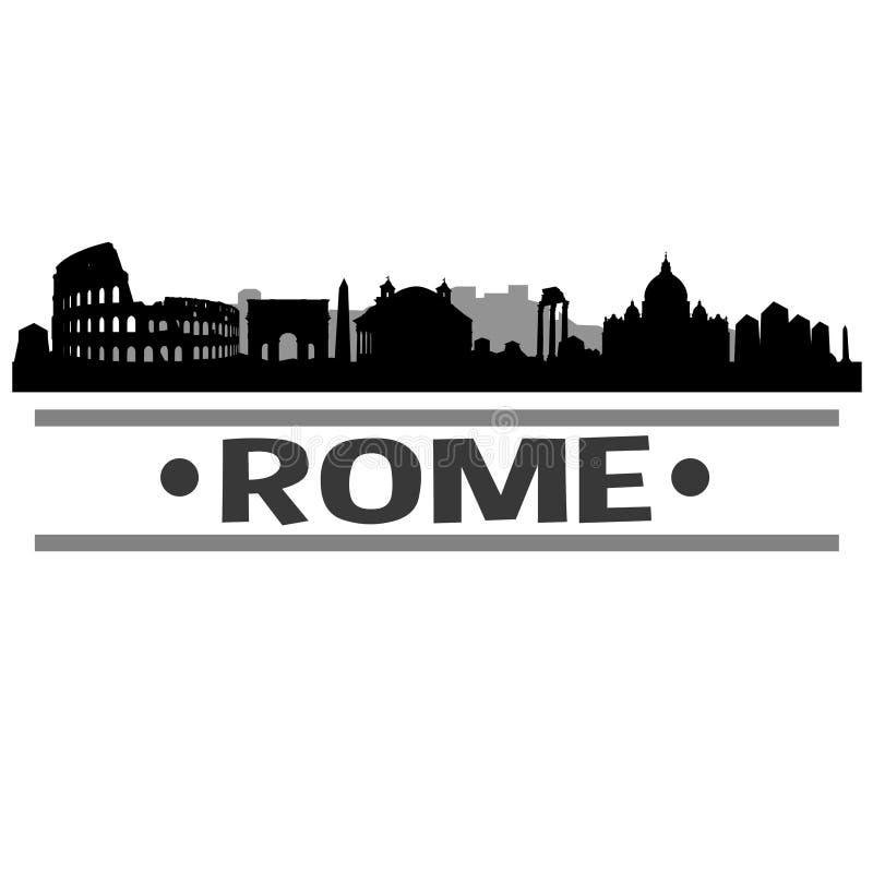 Vetor Art Design do ícone da cidade da skyline de Roma ilustração stock