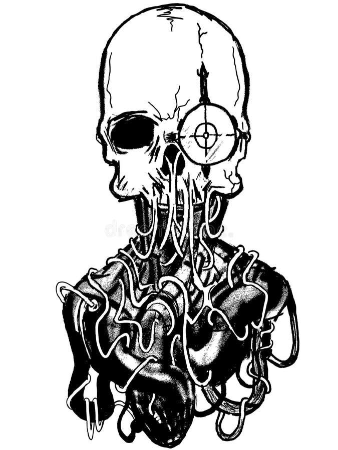 Vetor art. escuro. ilustração royalty free